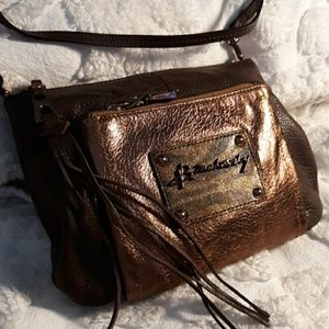 B Makowsky Pebble Leather Crossbody